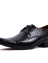 Men's Shoes Wedding / Office & Career / Party & Evening / Dress / Casual Patent Leather Oxfords Black / Red