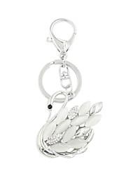 moda catseye clássico, situada cisne de metal porta-chaves / acessório bolsa