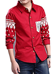 Boy's Cotton Shirt , Spring Long Sleeve