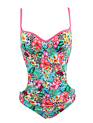 Womens Summer Floral Underwired Padded One Piece Swimwear