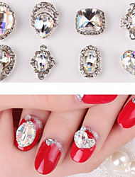 2PCS Extravagant Colorful Jewel Inlay Alloy Decoration Nail Art Decorations