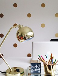 Polka Dot Wall Decal Sticker , Peel And Stick Metallic Gold Polka Dot Wall Decor