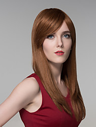 Soft Silky Natural Straight Human Virgin Remy Hand Tied-Top Woman's Capless Hair Wig