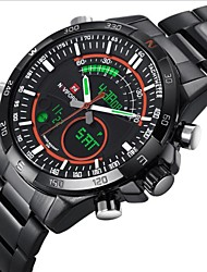 Men NAVIFORCE LED Analog-Digital Waterproof Sports Watch Calendar Genuine Stainless Steel (Assorted Color) Wrist Watch Cool Watch Unique Watch