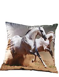 3D Design Print Horse Decorative Throw Pillow Case Cushion Cover for Sofa Home Decor Polyester Soft Material