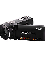 "ordro® 1080p aparat de fotografiat digital video-VHD Z8, 3 ""touch screen TFT, zoom digital 16x, control de la distanță"