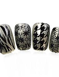 3pcs nieuwe 12x6cm image diy stamping platen nail art templates stencils voor polish xy-L02 (01-32) willekeurige aflevering