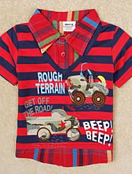 Katoen-Zomer-Boy's-T-shirt-Korte mouw