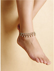 2Pcs Bells Anklet Bracelet Sandal Barefoot Beach Foot Jewelry Silver  bells Tassels Beach  Chain Anklet Chain Bracelet