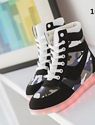 7 Colors 8 LED flash mode Luminous Shoes Men Women Unisex  Couple  canvas Sneakers Casual Flat Led Shoes Usb Charging
