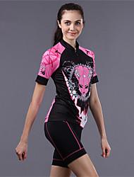 CHEJI Women's Cycling Bike Short Sleeve Clothing Bicycle Sports Wear Suit Jersey Shorts