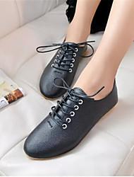 Women's Shoes Leatherette Flat Heel Ballerina Flats Outdoor / Office & Career / Dress / Casual Black / White