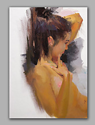 Artist Abstract Girl Oil Painting Framed Design Wall Art Living Room Decoration