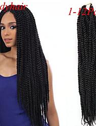 #1 Сенегал Спиральные плетенки Наращивание волос 18 Kanekalon 2 нитка 160 грамм косы волос