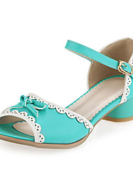 Women's Shoes  Heel Peep Toe / Open Toe Sandals Outdoor / Office & Career / Casual Blue / Yellow / White/L-1