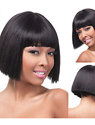 Bob Synthetic wigs Short Straight hair Blonde Wig for women Natural wigs with bangs sw0483