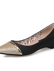 Черный / Белый / Серый / Миндальный - Женская обувь - Для праздника - Дерматин - На низком каблуке -На каблуках / С острым носком / С