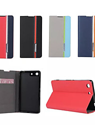 Retro Fashion Deluxe Leather flip Wallet Stand Case For Sony Xperia M5
