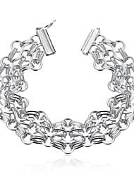 Fashion Original Women's Web Shape  Silver Plated Brass Chain & Link Bracelet(Silver)(1Pc)