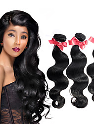 EVET Unprocessed Brazilian 100% Real Virgin Human Hair Weave Body Wave Extensions 3 Bundles