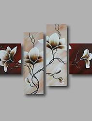 """fertig gestreckte Hand gemaltes Ölgemälde 64 """"x44"""" Leinwand Wandkunst moderne Blumen braun weiß hängen"""