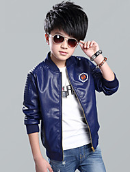 Boy's Formal Solid Suit & BlazerCotton Spring / Fall Black / Blue / Red