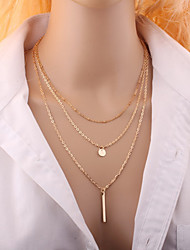 Necklace Choker Necklaces Jewelry Wedding / Party / Daily / Casual Fashion Alloy Gold / Silver 1pc Gift