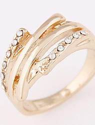 Women's Hot New Sweet Personality Concise Fashion Rhinestone Ring