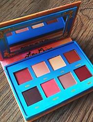8 Paleta de Sombras Secos Paleta da sombra Pó NormalMaquiagem para o Dia A Dia / Maquiagem para Halloween / Maquiagem de Festa /