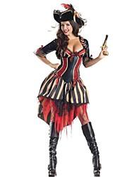 Costumes de Cosplay / Costume de Soirée Sorcier/Sorcière Fête / Célébration Déguisement Halloween Noir Mosaïque Robe / ChapeauHalloween /