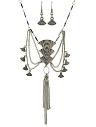 Tibean Ethnic Jewelry Tassel  Necklace  and  Earring  Set