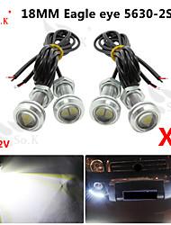 4 x 9w conduit l'œil d'aigle brouillard de voiture lumière diurne DRL inverser le signal de stationnement de sauvegarde