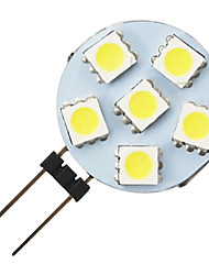 g4 1.2W 6-led 5050 caldo forma rotonda bianca guidata