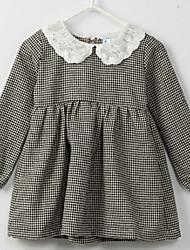 Girl's Black Dress , Dresswear Cotton / Polyester Spring