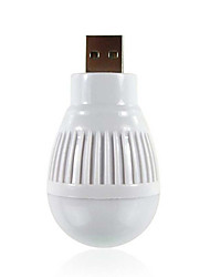 bulbo de la bola con forma de USB Mini portátil alimentado llevó la luz de la noche para el ordenador portátil de lectura de la PC de