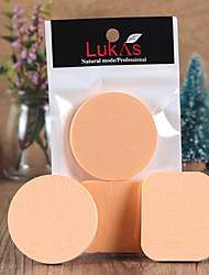 Powder Puff/Beauty Blender Natural Sponges 2 Round / Others 5.5*5.5*0.7cm  & 5.3 *4.5*0.7cm Normal Nude