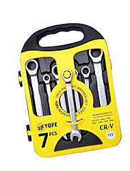 7 conjuntos de 8-19 acabamento polimento rápido chave catraca dupla
