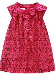Girl's Red Dress,Lace Cotton Summer