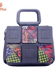 M.Plus® Women's Casual Leopard Print PU Leather Messenger Shoulder Bag/Tote