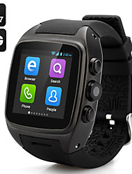 x01 indossabile Android Phone 4.4 orologio, chiamate 2.0MP / wifi / gps mani libere / controllo dei media / contapassi