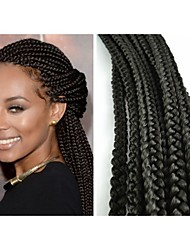 2Pcs/Pack Box  Braid Kanekalon Fiber Synthetic Fiber for Black Women