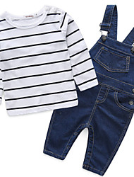 Boy's Cotton / Polyester Clothing Set,Spring Striped