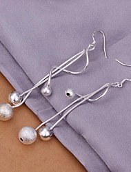 Fashion Plating Silver Earrings