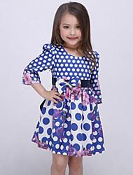 Girl's Blue Dress Rayon Fall / Spring