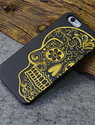 Black Wood iphone Case Human Skeleton Terror Religion Hard Back Cover for iPhone 6s Plus/iphone 6 Plus