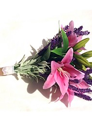 Wedding Flowers Free-form Lilies / Lavenders Bouquets