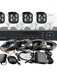YanSe® 4CH 960H 1000TVL CCTV DVR Kit IR Camera Color Waterproof Security Cameras System 3.6mm 720CF04