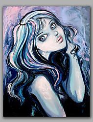 Cartoon Beautiful Girl Modern Abstract People Oil Painting