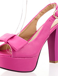 Zapatos de mujer - Tacón Robusto - Punta Abierta / Plataforma - Sandalias - Oficina y Trabajo / Vestido / Fiesta y Noche - Semicuero -