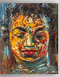 Pintados à mão Pessoas / Retratos AbstratosModerno 1 Painel Tela Pintura a Óleo For Decoração para casa
